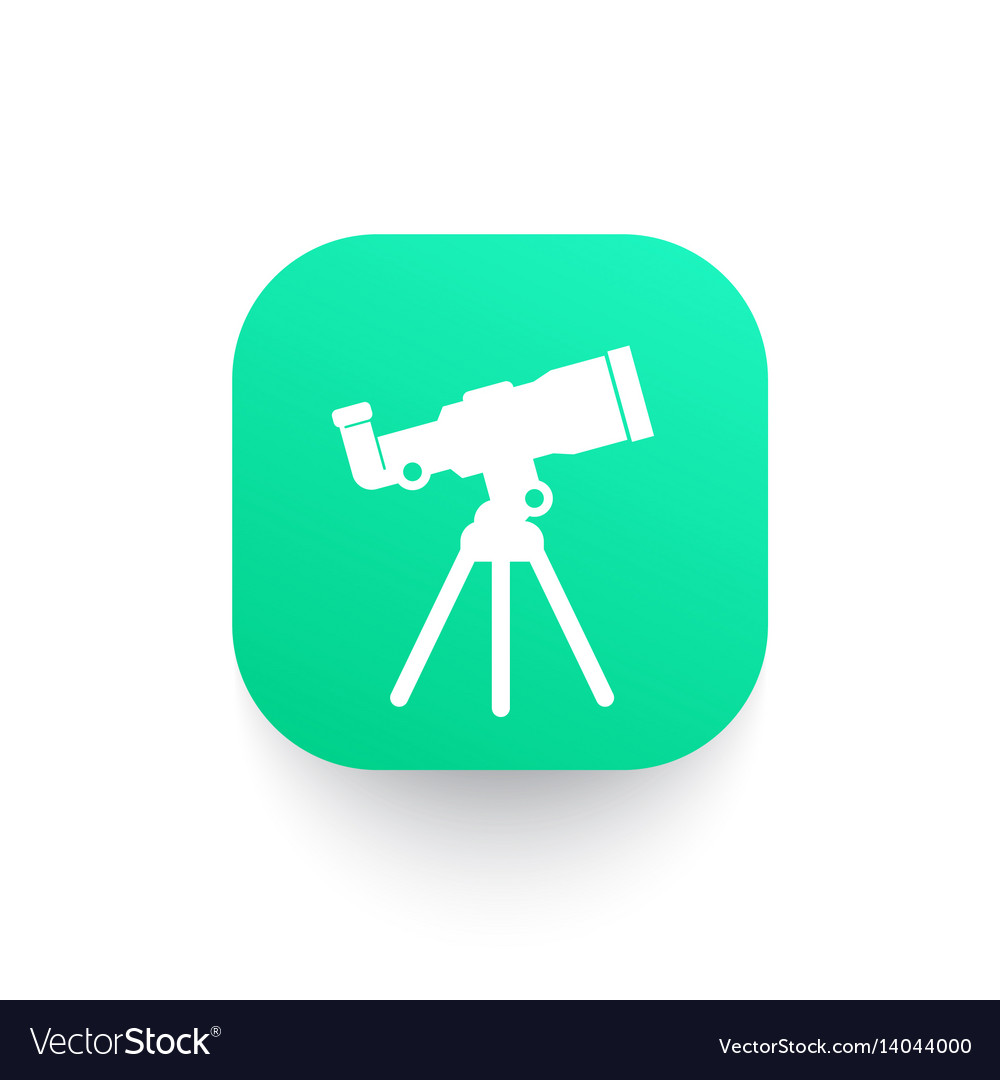 Telescope astronomy icon