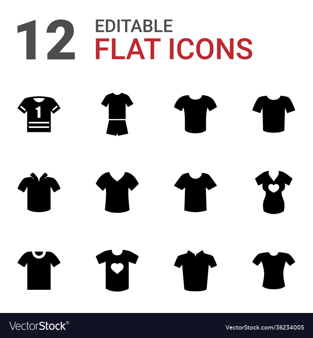 12 tshirt icons