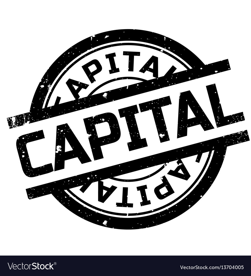 Capital Rubber Stamp Vector Image