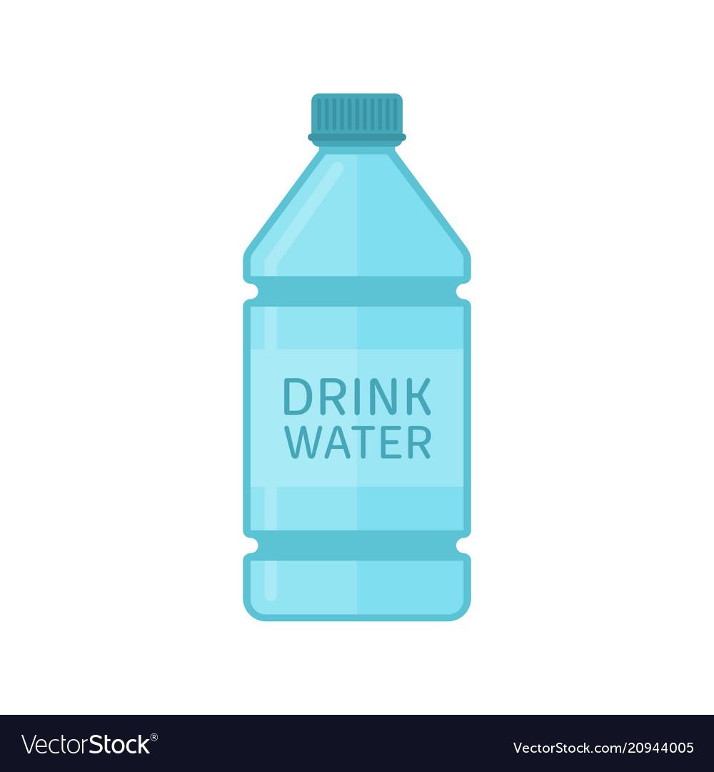 Drink water bottle vector image