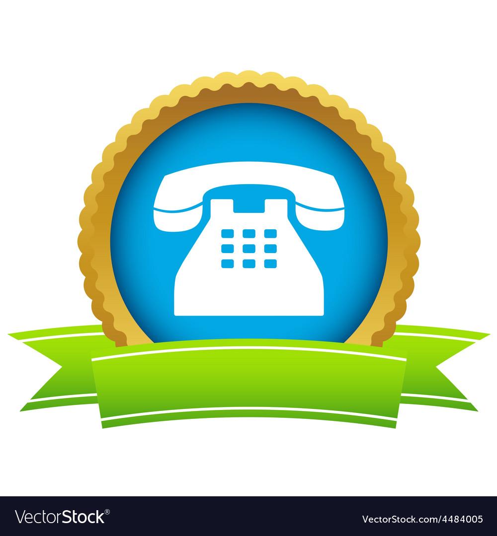 Gold Telephone logo vector image