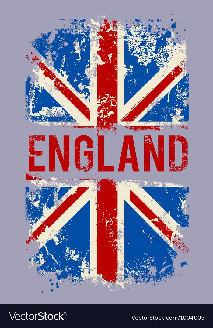 Grunge banner UK national flag
