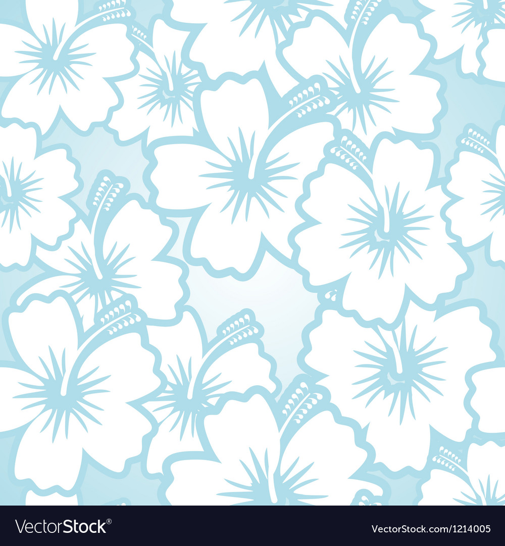 Hibiscus floral pattern