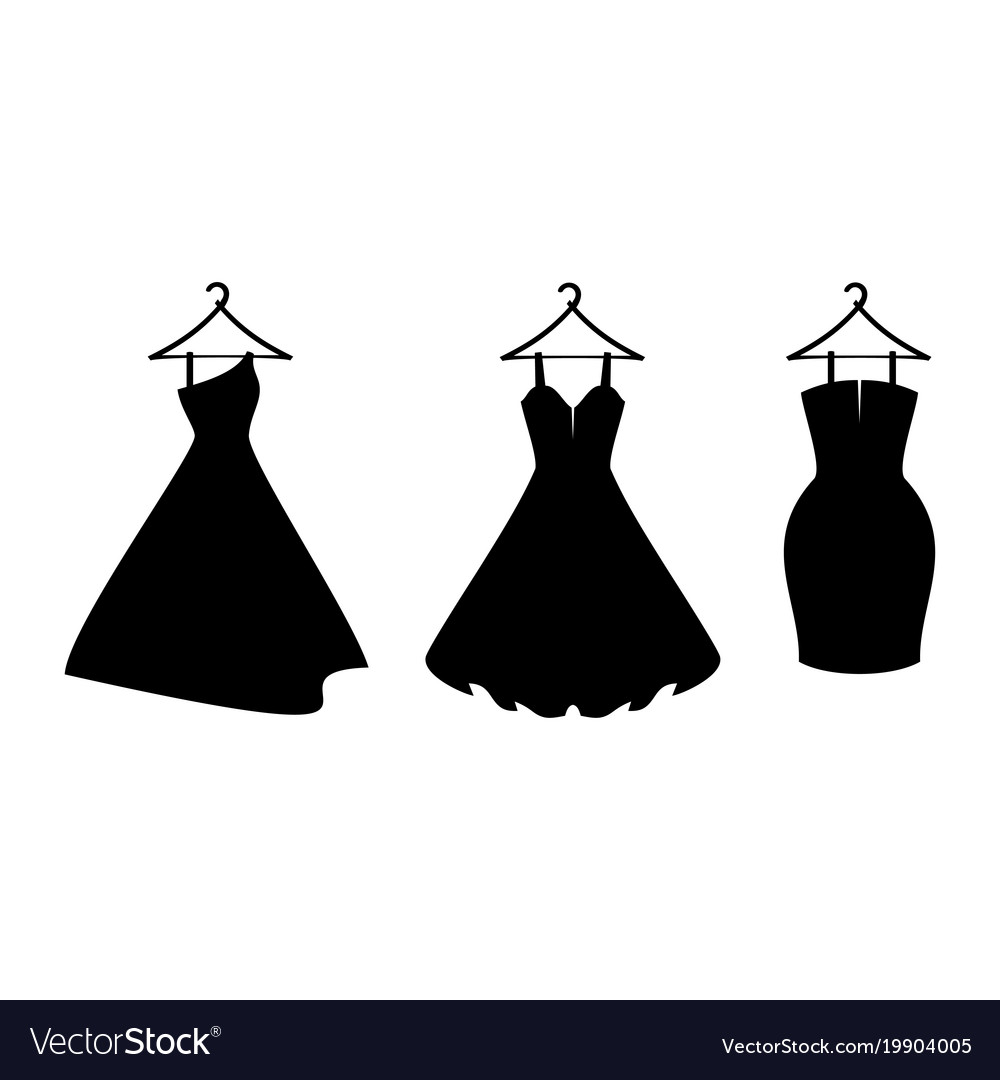 Icon dresseslittle black dress Royalty Free Vector Image
