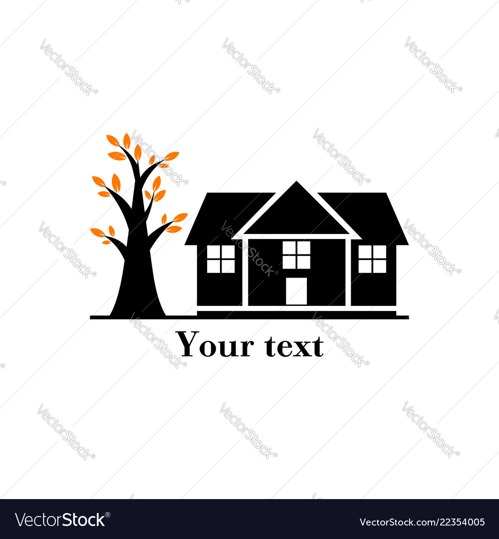 Logo of a house with a tree