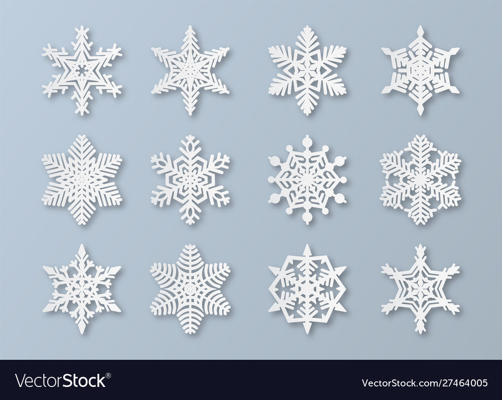 Paper snowflakes new year and christmas papercut