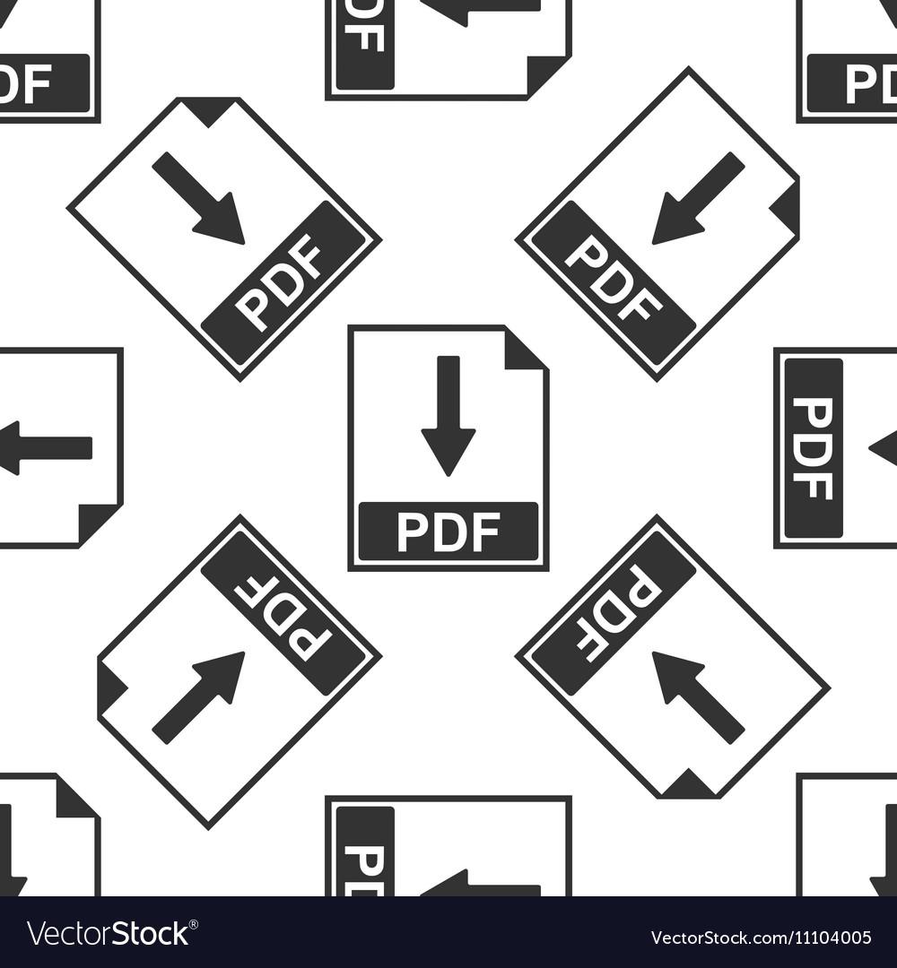 PDF file document icon seamless pattern on white
