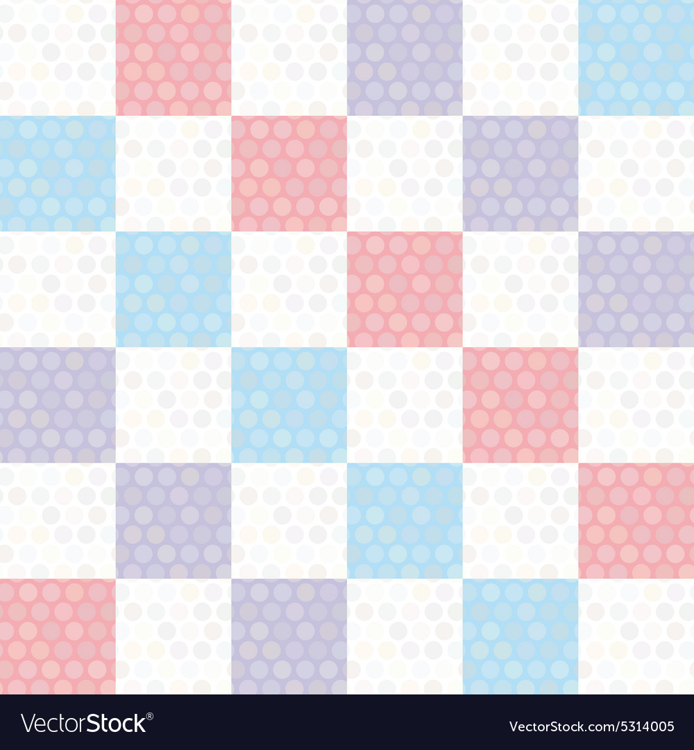 Polka dot background seamless pattern with pink vector image