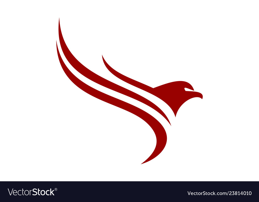 Abstract eagle icon logo