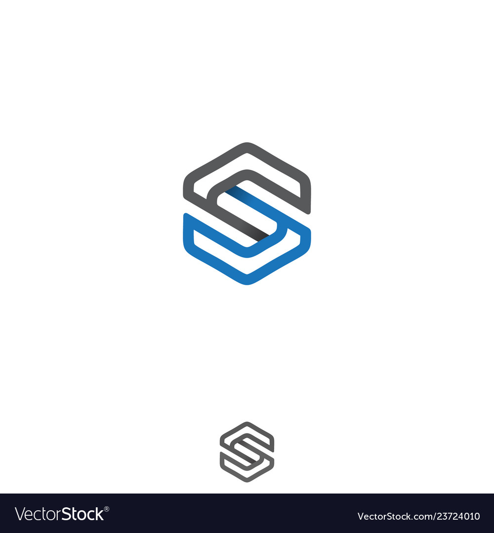 Abstract modern initial letter s logo concept vect