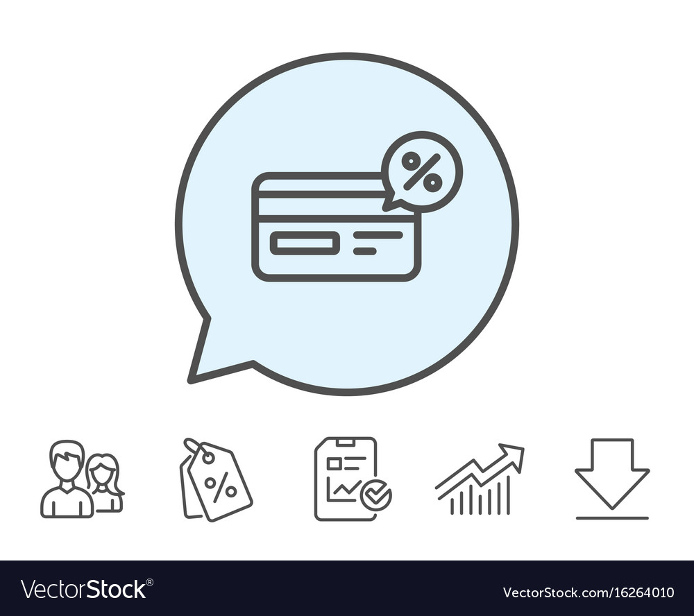 credit card line icon cashback service royalty free vector credit card line icon cashback service royalty free vector