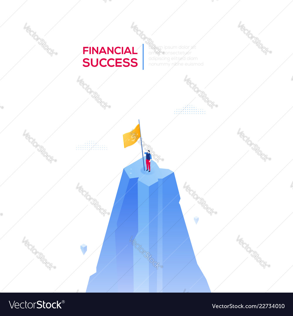Financial success - modern isometric web