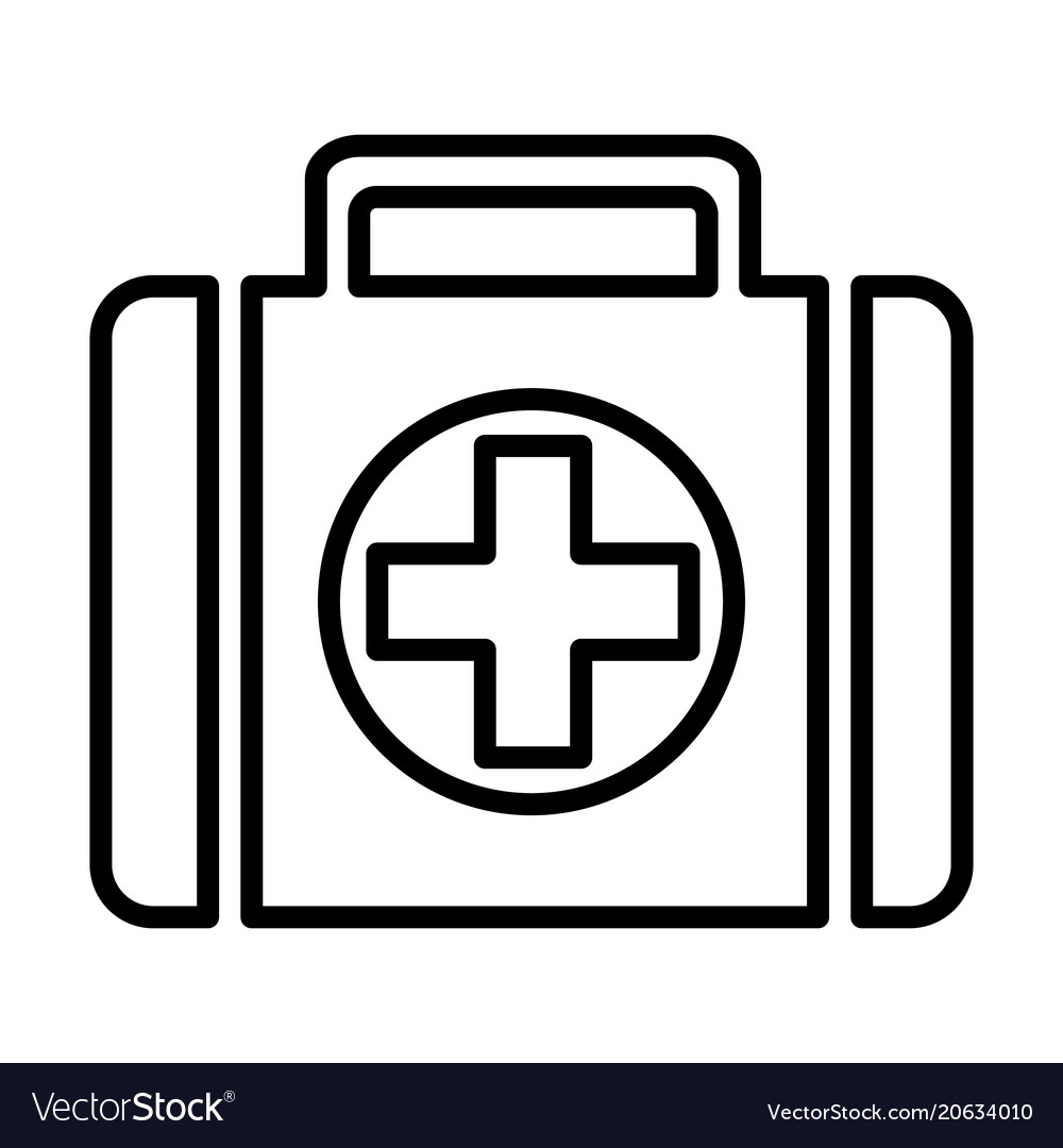 First-aid kit line icon 96x96 pictogram