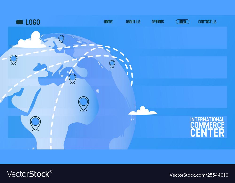 Globe web page plane traveling around world