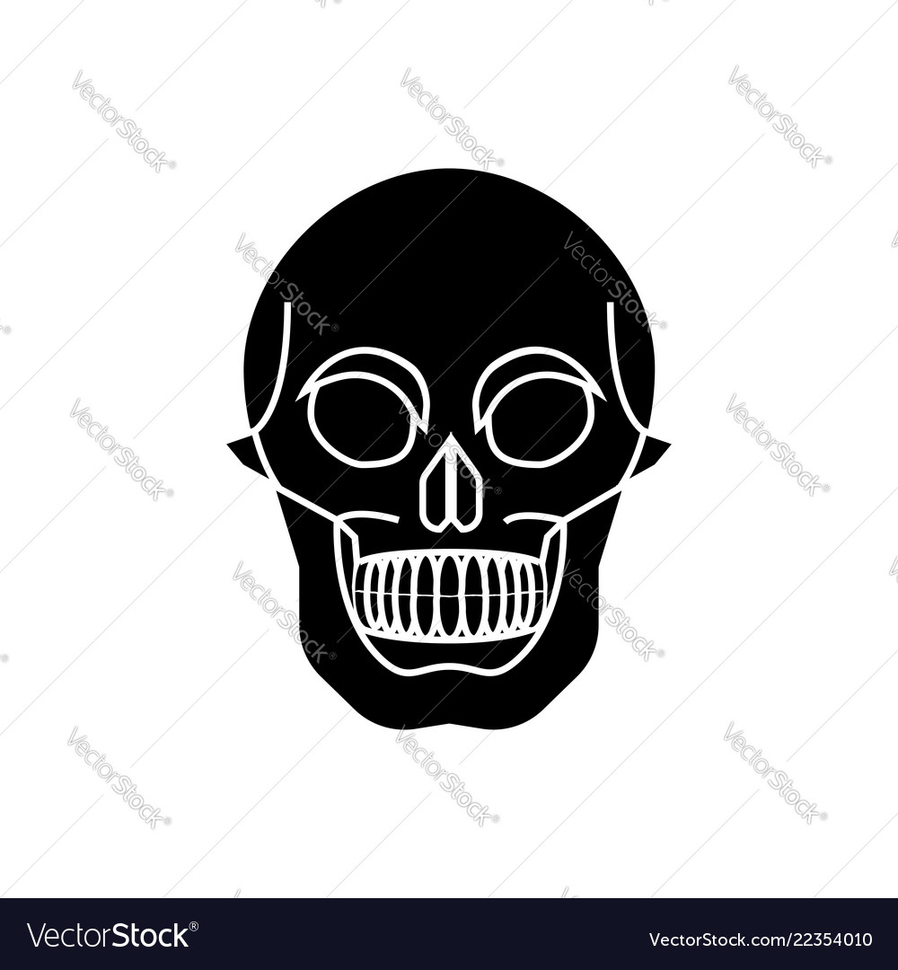 Glyph icon of the skull