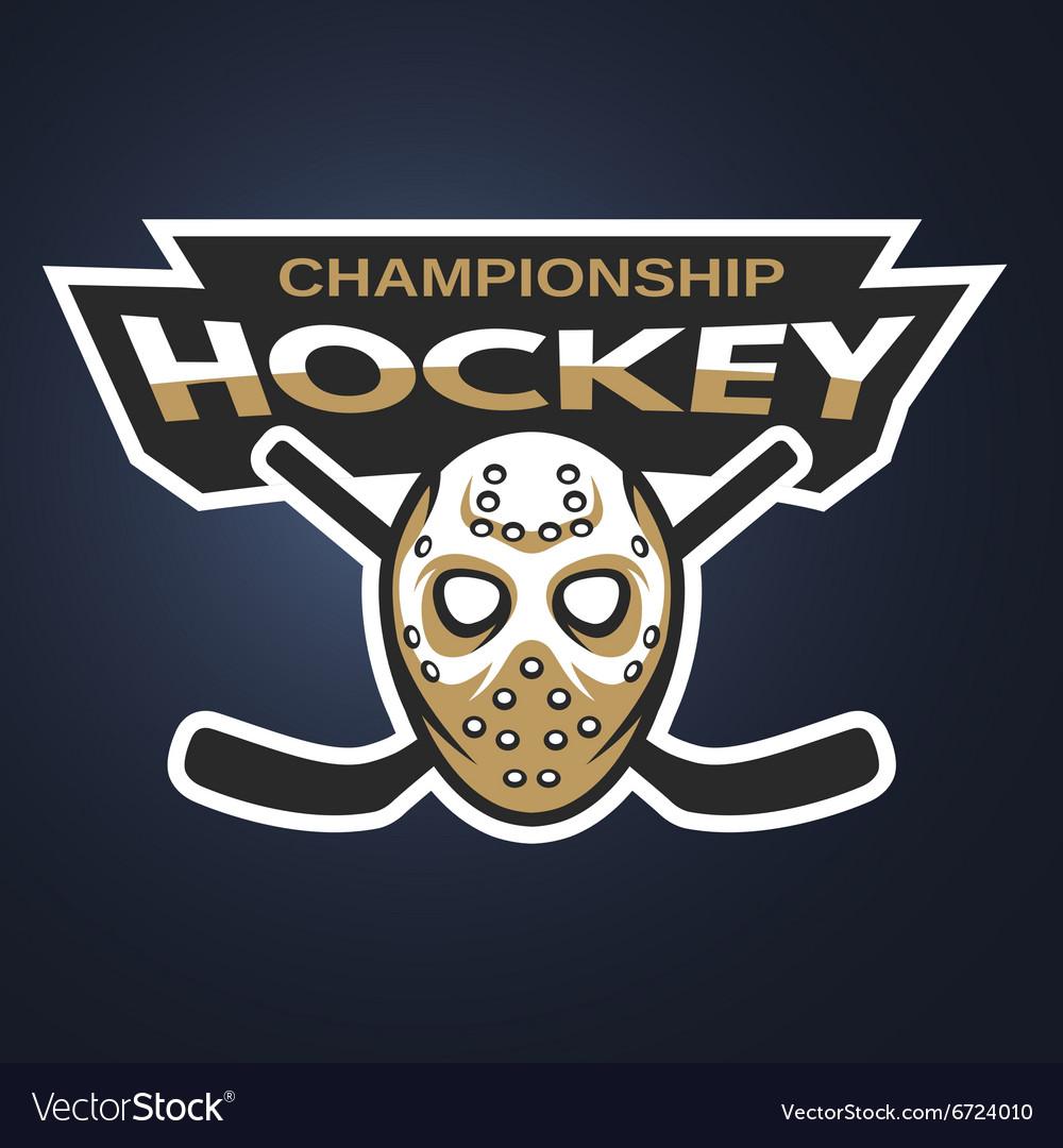 Goalie Mask Ice Hockey Logo Emblem