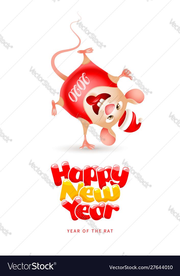 Happy new year year rat