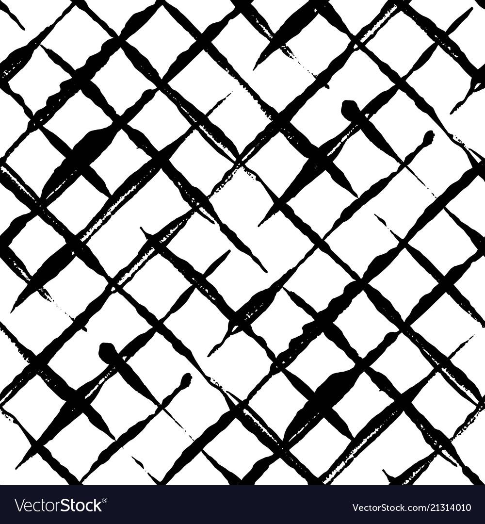 Trendy handdrawn checkered seamless pattern
