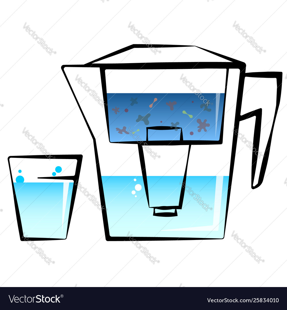 Water filter and glass