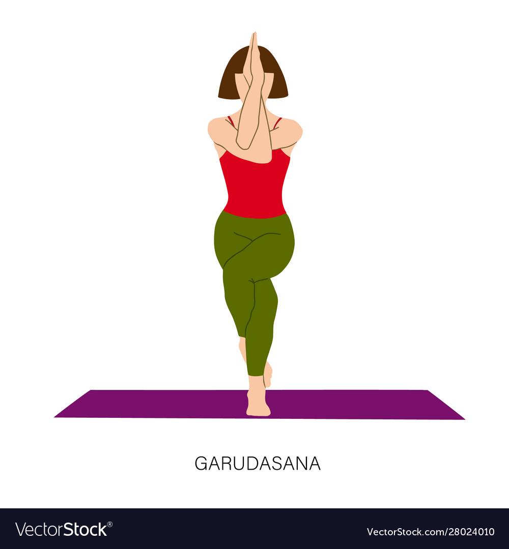 Yoga Garudasana Eagle Pose