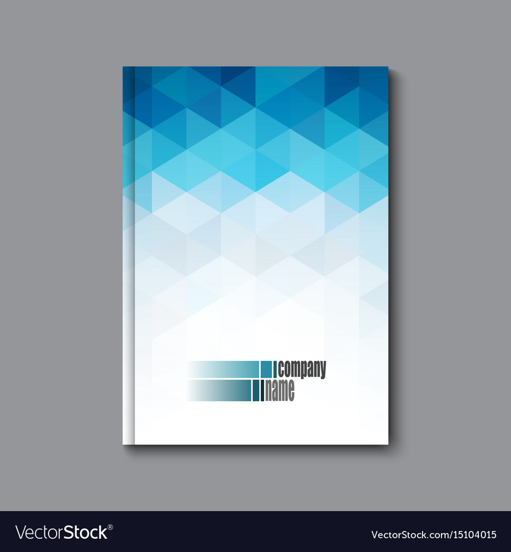 Abstract business brochure flyer and cover design vector image