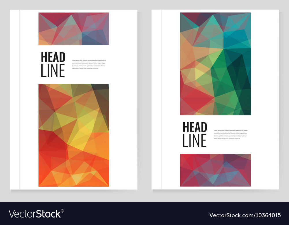 Abstract Triangle Brochure Flyer design template