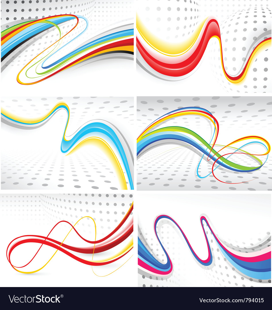 Collection of colour lines vector image