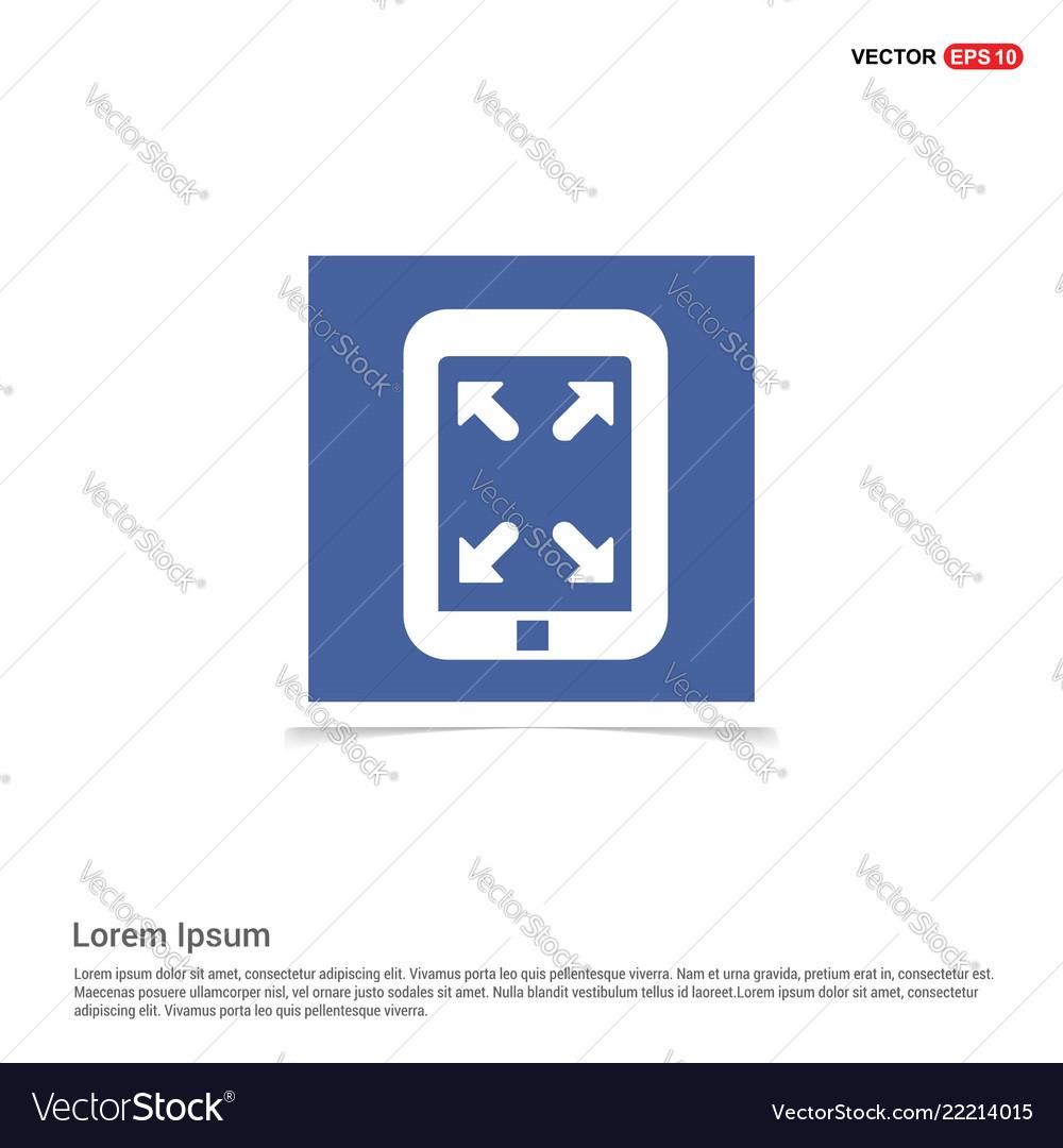 Digital tablet full screen icon - blue photo frame