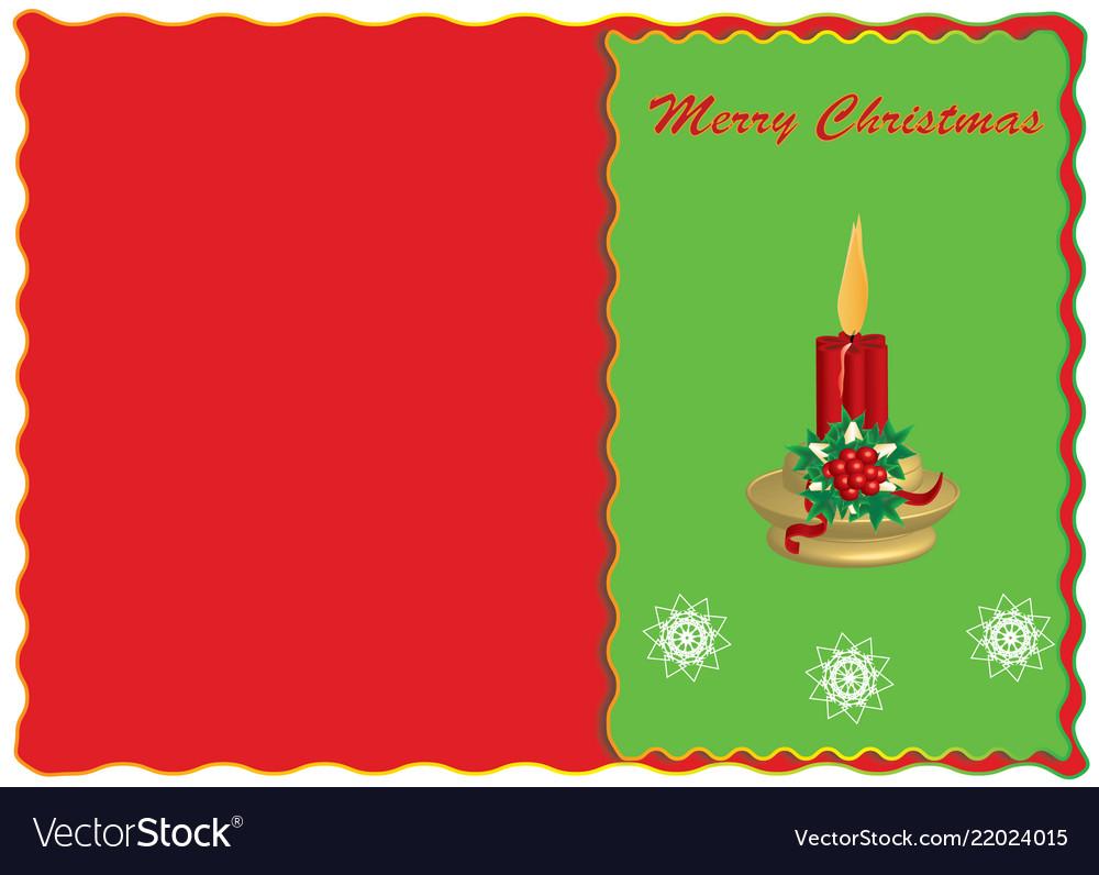 Merry christmas congratulatory postcard