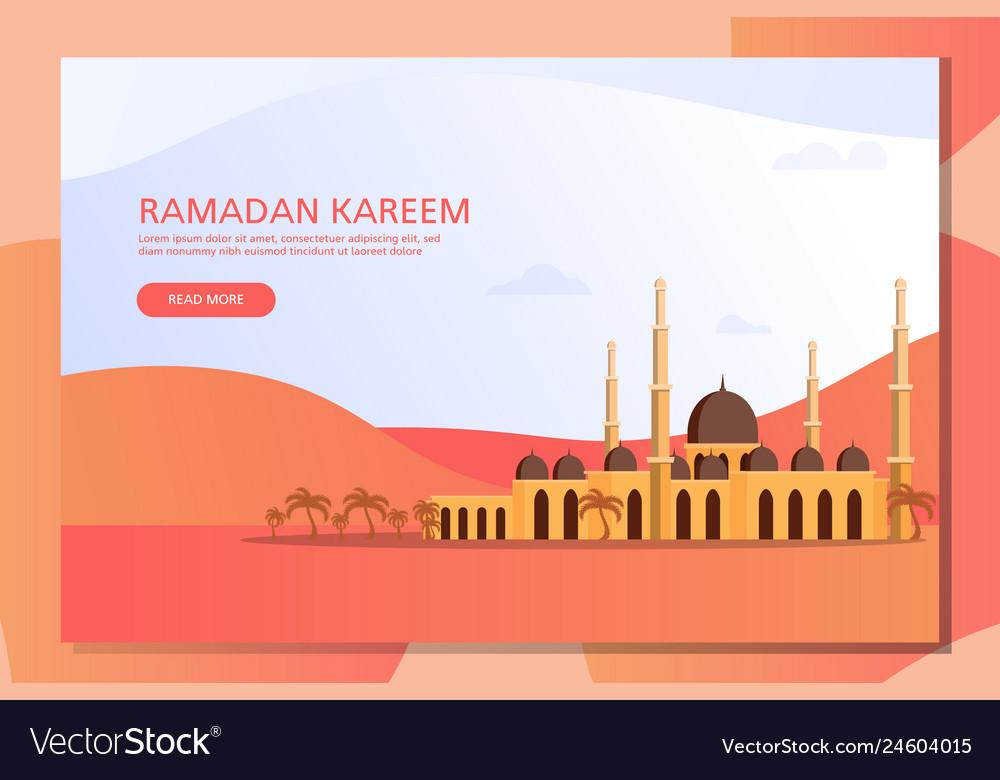 Ramadan kareem islamic flat