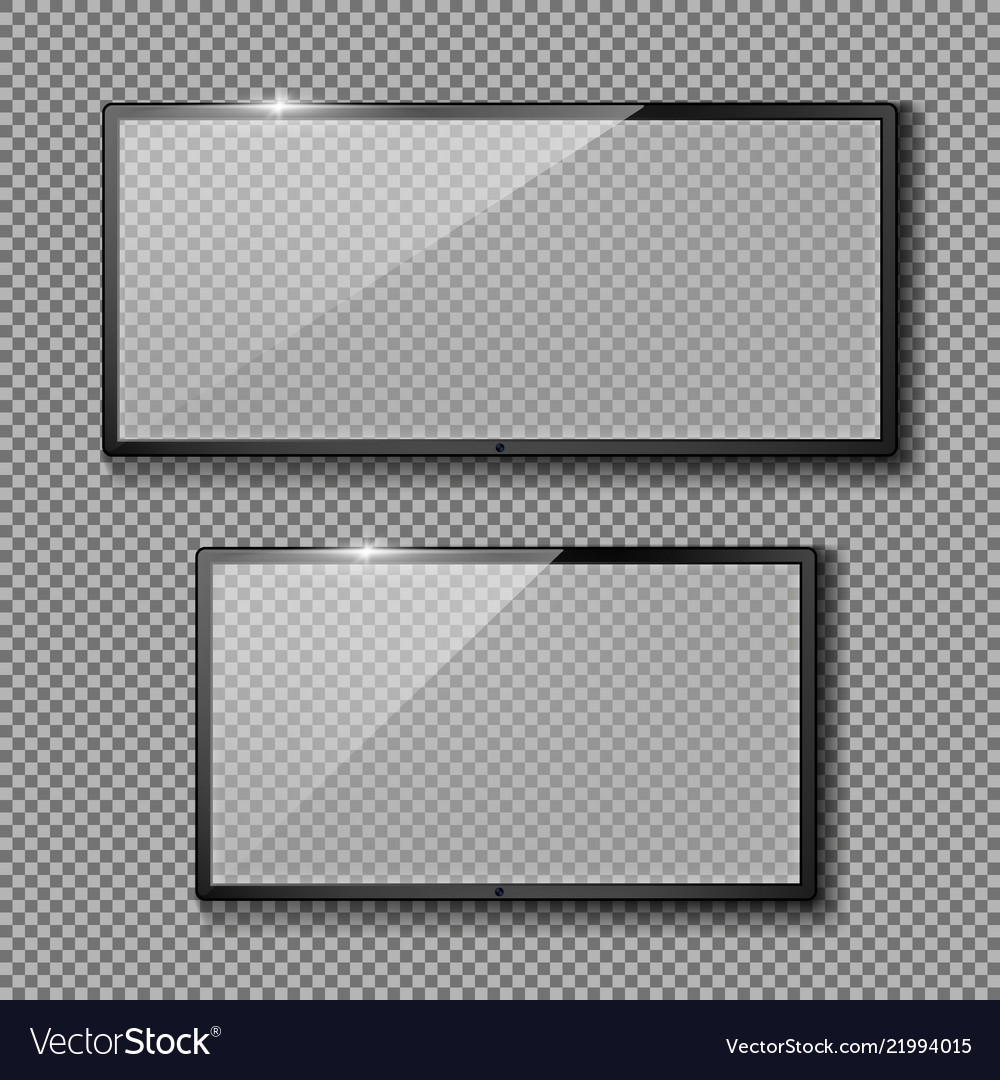 Set with empty tv frames flat lcd screens
