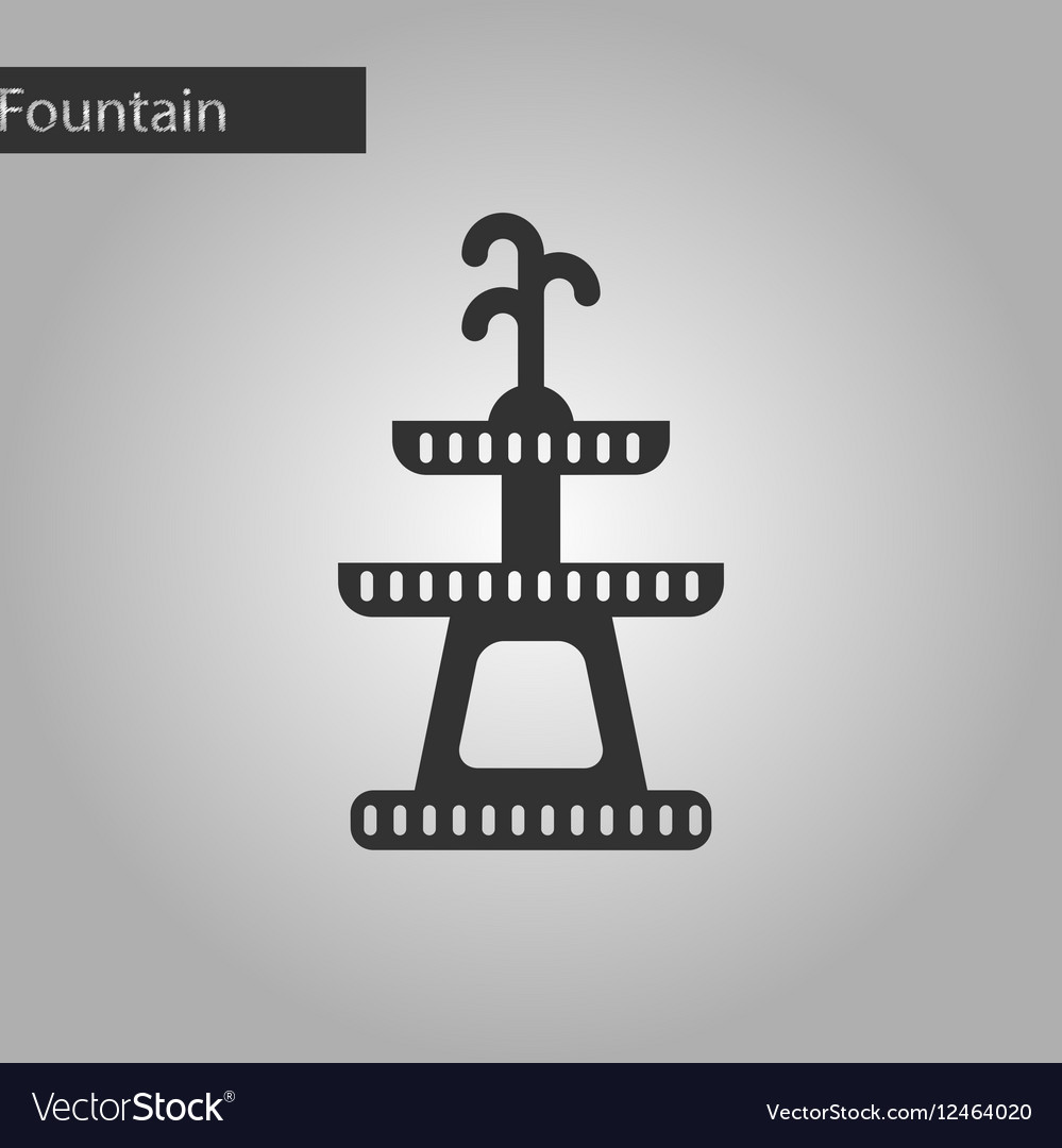Fountain icon in black style isolated on white