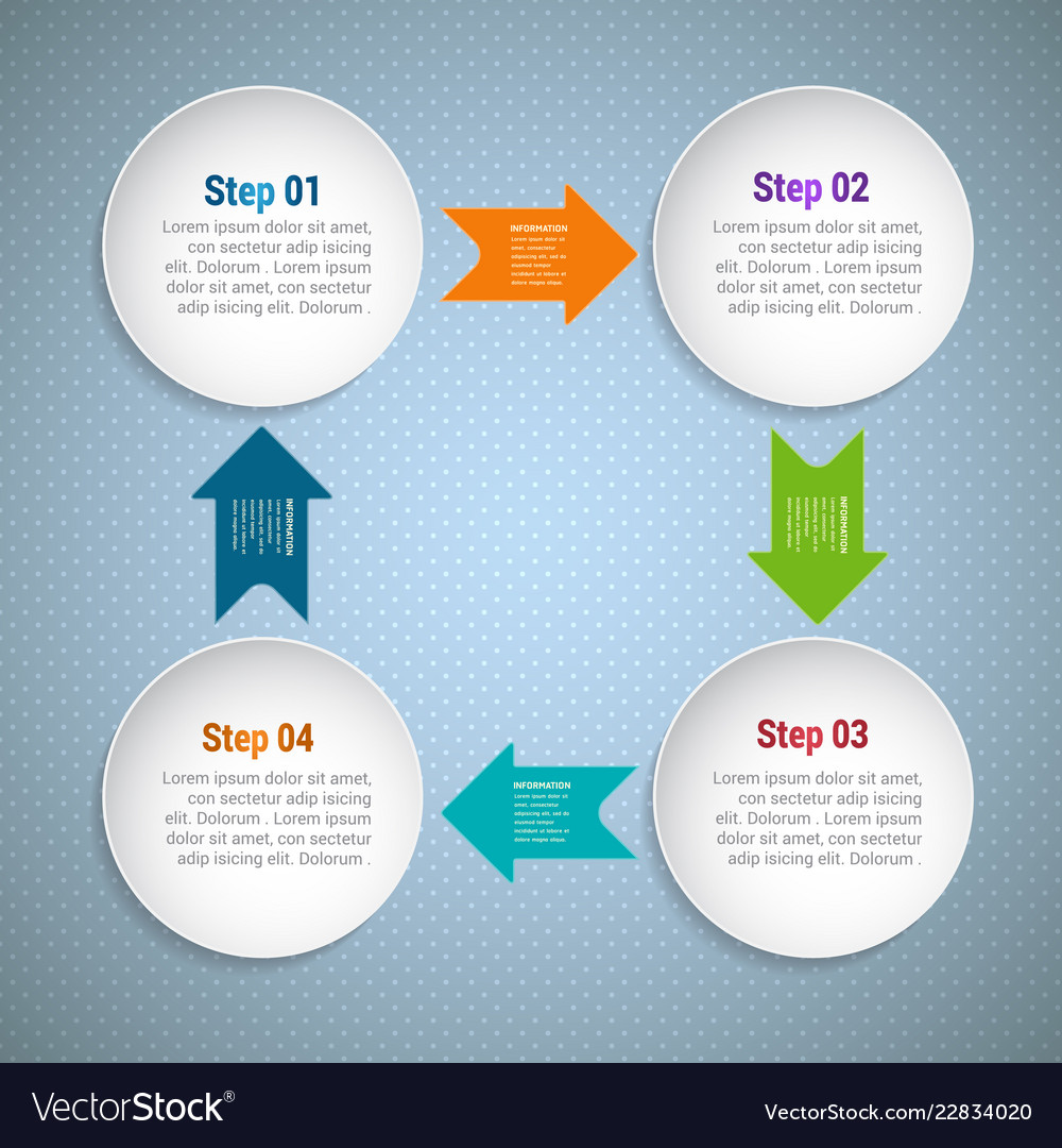 Circle arrows for infographic template for