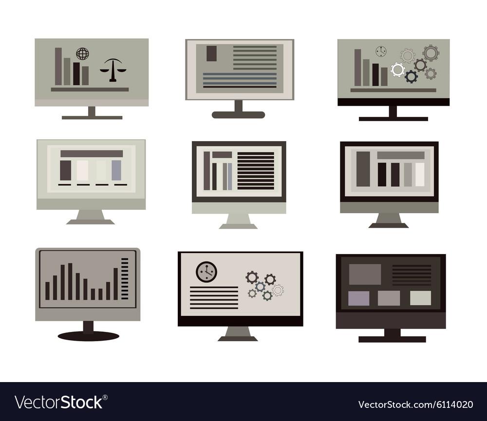 Flat design computer