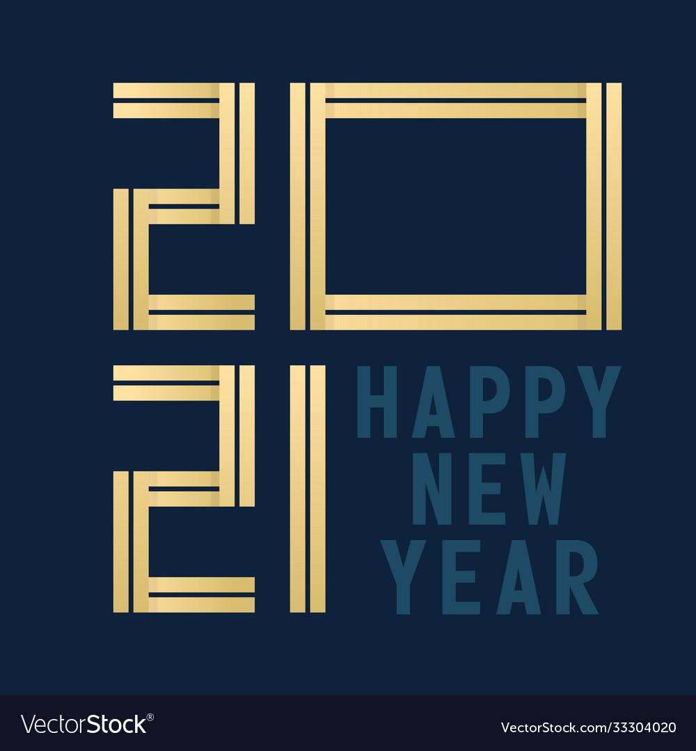Happy new year 2021 celebration greeting card