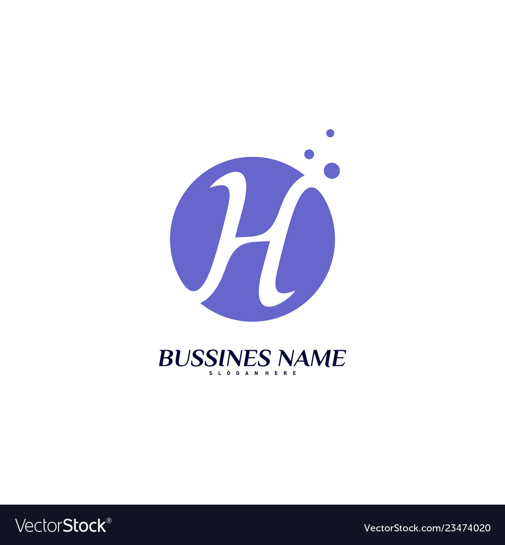 Letter h logo design concept initial h logo