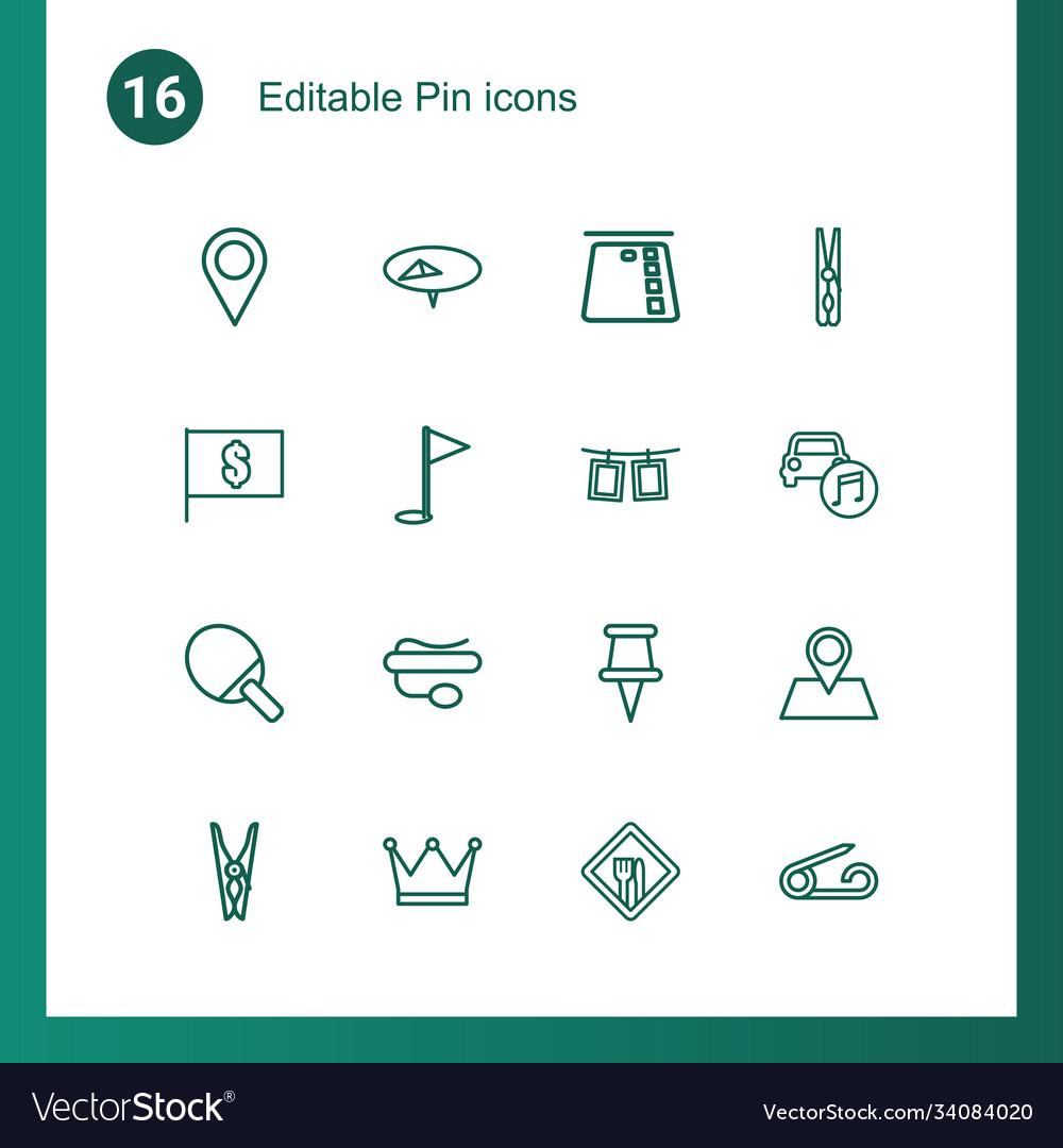 Pin icons