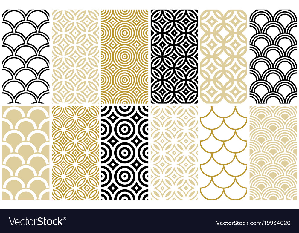 Seamless Pattern In Asian And Moroccan Style Vector Image Adorable Moroccan Design Pattern
