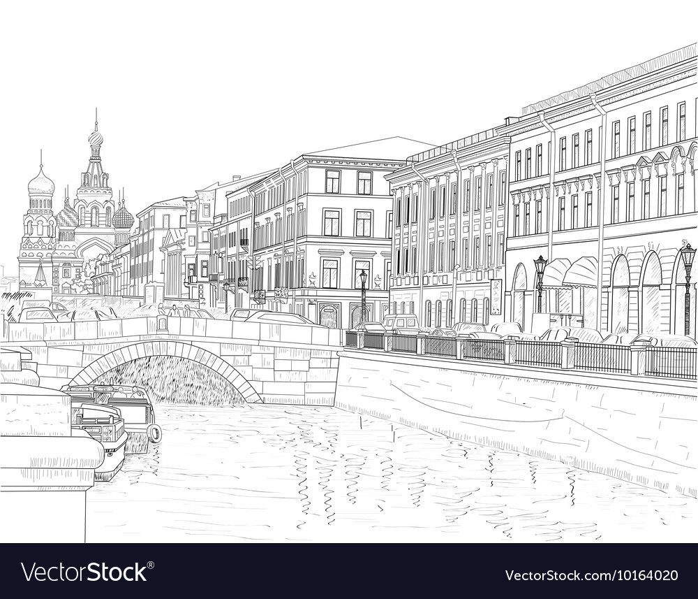 Sketch of a city street