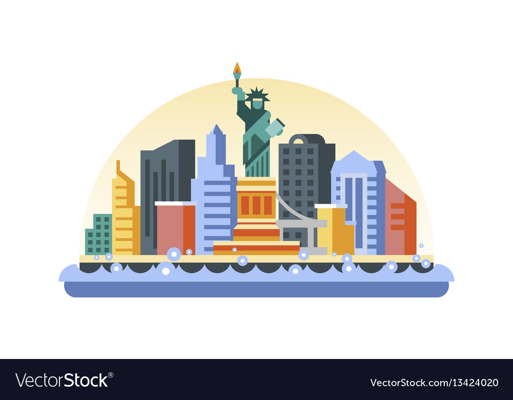 Usa icon in flat style