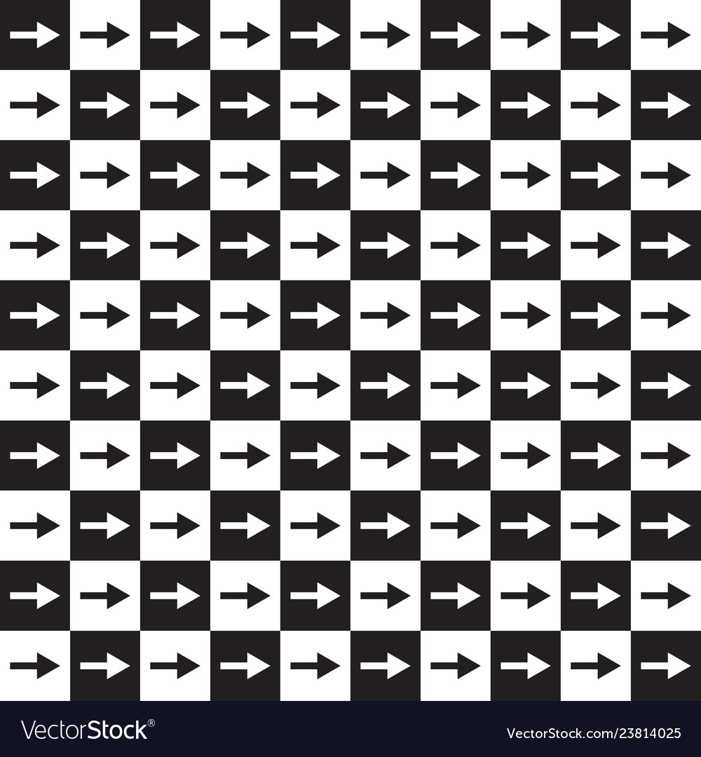 Checkered pattern with arrows