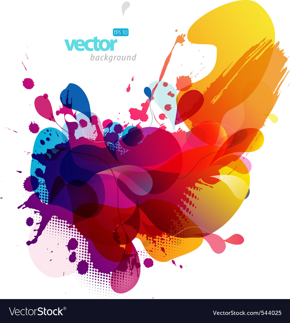 Colorful splash vector image