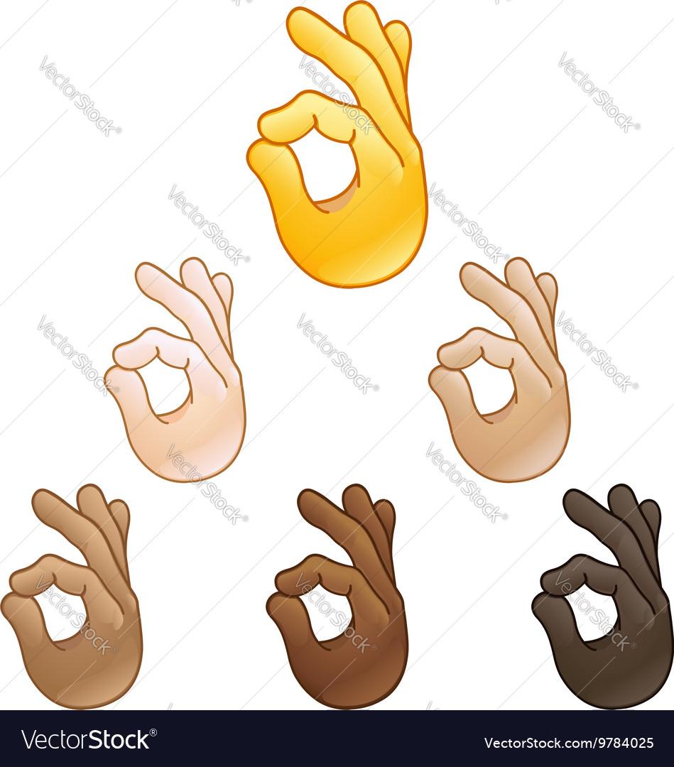 Ok hand sign emoji