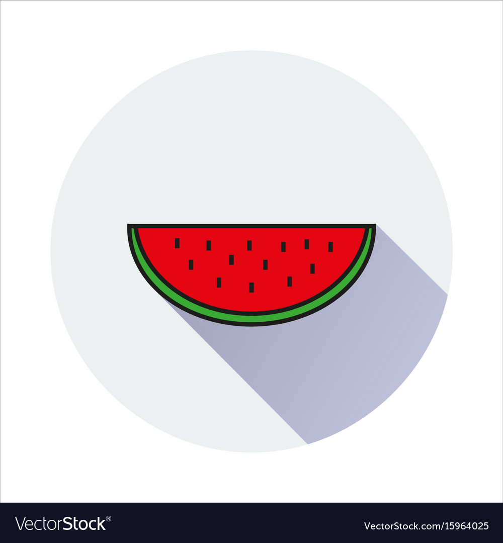 Water melon simple icon on white background