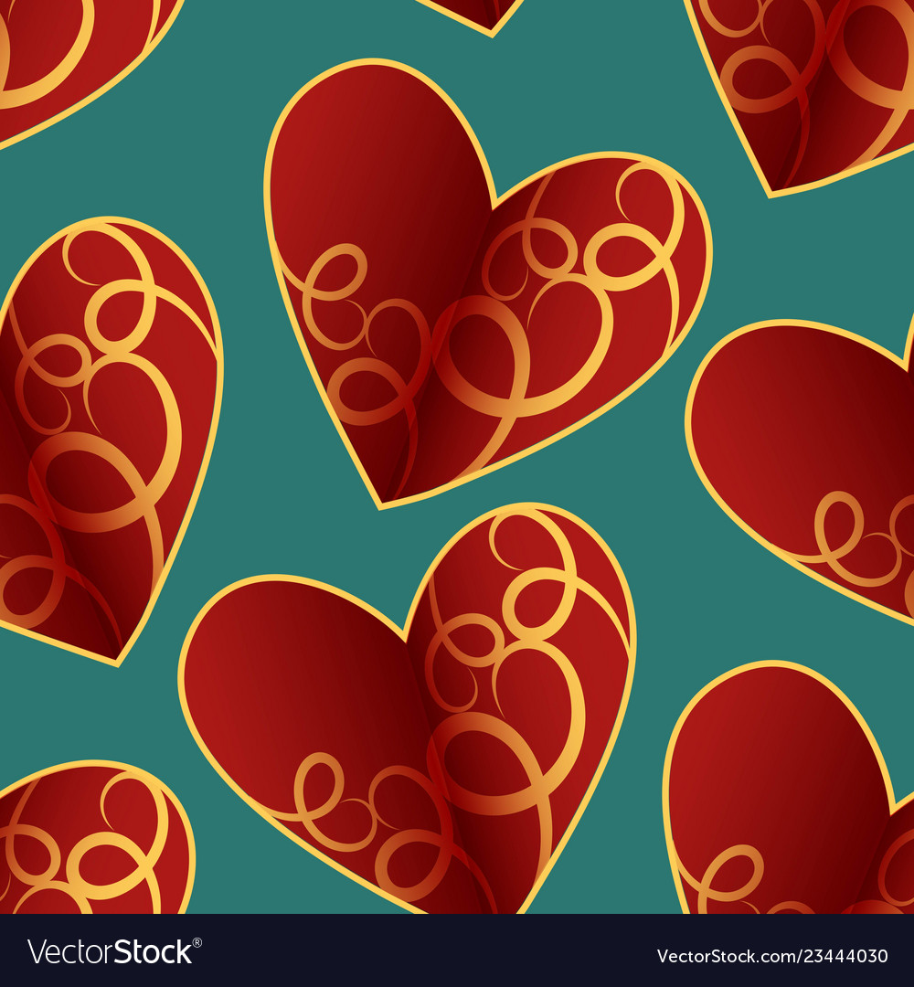 A seamless pattern featuring repeating hearts