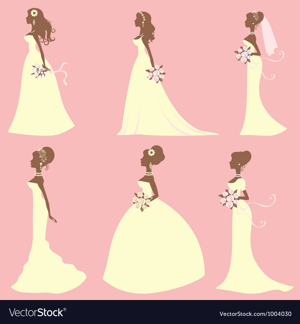 Brides different styles vector image