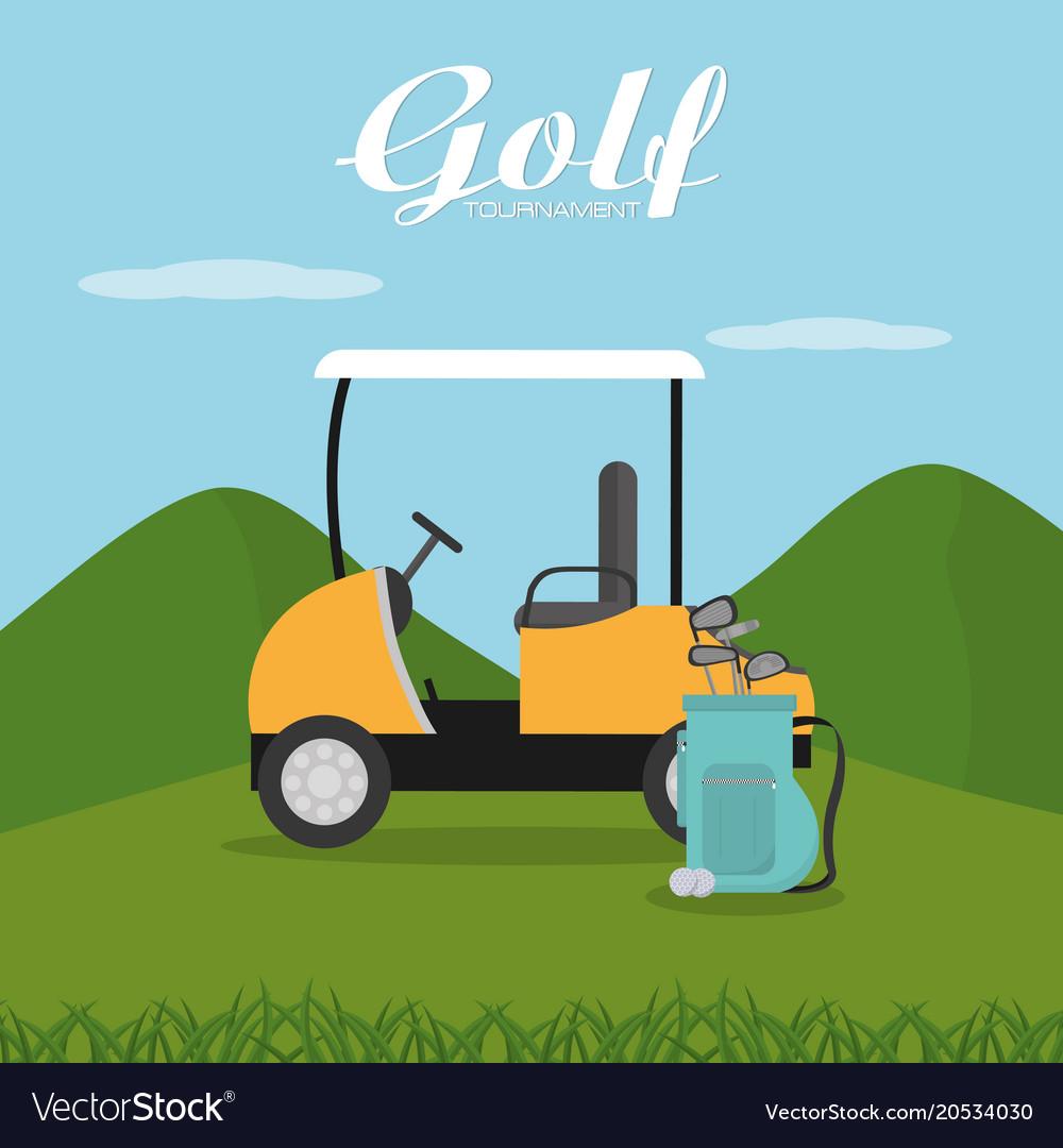 Golf Tournament Cartoon Royalty Free Vector Image