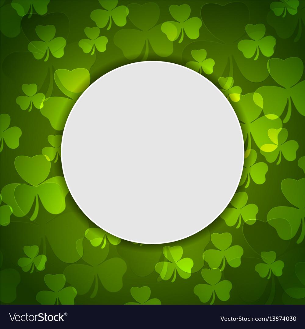 Green shamrock clovers st patrick day vector image