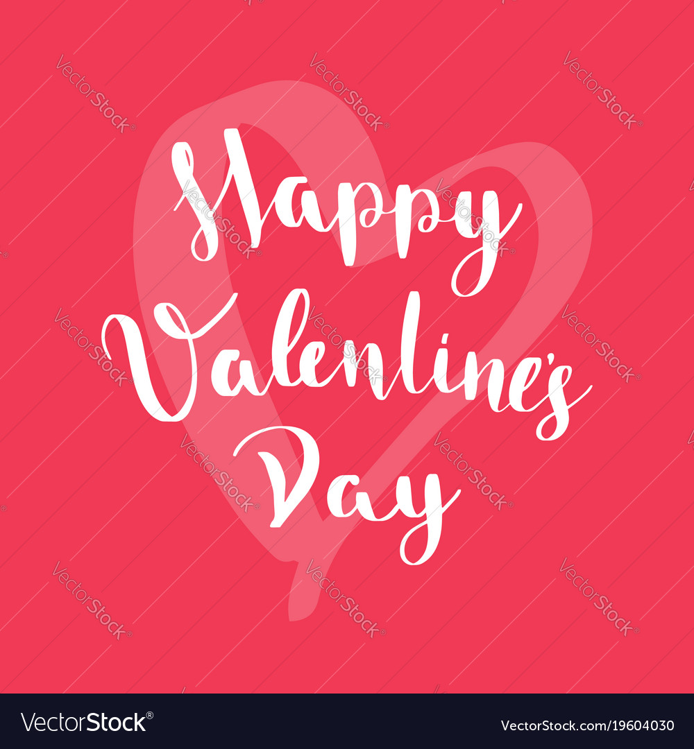 Happy valentines day card on red background vector image m4hsunfo