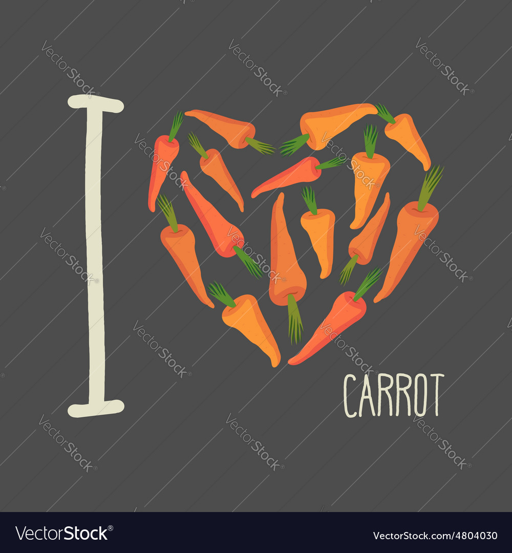 I love carrots Heart of Orange carrots